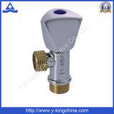 Soupape de cornière en laiton modifiée de tuyauterie avec le traitement de zinc (YD-5001)