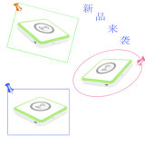 Heiße verkaufende Kristalldrahtlose Aufladeeinheituniversalqi-drahtlose magnetische Induktions-Aufladeeinheit der phantasie-2016
