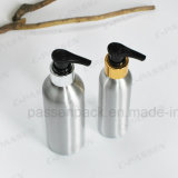 Botella cosmética de aluminio de la loción con la bomba del dispensador (PPC-ACB-038)
