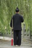 Tai van Wudang Kleding van de Kraag van het Vlas van de Mensen van de Chi de Hoogwaardige lang-Sleeved Schuine