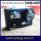 Mini DV tela dupla de controle remoto da ação 4k da câmera 30fps WiFi do esporte da câmera real lente de 170 graus