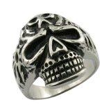 Anillo del cráneo de la película de la mirada de la antigüedad del acero inoxidable de la manera 316L