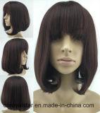 A maioria de peruca sintética reta do preto fêmea popular do cabelo