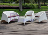 by-432 le sofa extérieur de rotin de loisirs de club blanc