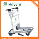 Auto Brakeの性質Rubber Wheels Stainless Steel Airport Baggage Trolley