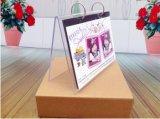 De Tribunes van de Kalender van de Desktop van de V-vorm, de AcrylVertoning van de Kalender