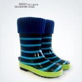 Kinder und reizende gestrickte Welly Socken des Erwachsen-100%Polyester für Rainboot