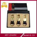 Coche vendedor caliente Keychain de la promoción Leather+Metal