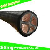 Usar o fio isolado do cabo 0.6/1kv do núcleo do cabo o plástico de cobre
