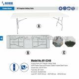 8 tabela Foldable/fácil pés de tabela do molde de sopro do HDPE de Carring/tabela de acampamento barata ao ar livre da pesca