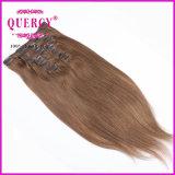 Девственница Remy человека ранга 8A 100% способа верхнего качества самая точная все волосы зажима надкожицы