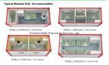 Het Huis van de container voor het Kamp van de Arbeid met het Ziekenhuis van de Wassing van de Kliniek van het Toilet van de Keuken