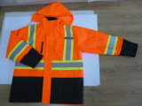Горячее сбывание 4 в 1 отражательном Parka с выстегивать, Parka безопасности, куртке безопасности (DPA020)