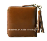 Женщины конструкции способа замыкают накоротко портмоне подгонянное бумажником кожаный