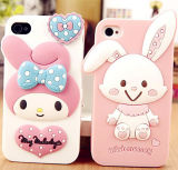 2017 Cartoon Big Ear Rabbit Silicone Cover for Cell Phone