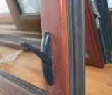 Guichet en bois en aluminium de tente de profil de la qualité Kz350 avec le blocage détraqué