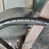 En853 2sn gewundenes Hochdrucköl-flexibler hydraulischer Gummischlauch