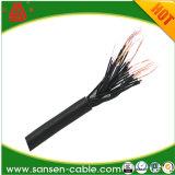 Kvv22 кабель аудиоего кабеля системы управления 3.5mm с кабелем регулятора звука