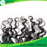 Extensão Curly Kinky natural do cabelo humano de 100%/extensão brasileira do cabelo do Virgin/cabelo humano