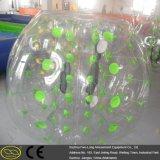Sfera umana esterna dell'interno variopinta pazzesca divertente della bolla