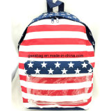 Form amerikanische Style Flag Pattern School Kid Backpack Travel Einkaufstasche mit Good Quality u. Competitive Price (GB#20081)