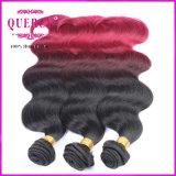 Cheveux indiens d'Omber de produits de cheveux humains de vague de corps de Remy de produit chaud