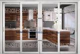 Porte d'entrée en aluminium intérieure de porte coulissante de profil de couleur grise de fluorocarbone