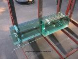 vidro 12mm Tempered da tela de chuveiro de 6mm 8mm 10mm com forma curvada ou lisa