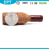 Lecteur flash USB en bois Shaped de bouteille de vin rouge (TW009)