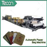 Bolsa de papel de Kraft de la impresión en color de la alta tecnología cuatro que hace la máquina