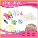 Conjunto de herramienta de la hornada del cuchillo de la taza de la torta del papel del bolso de los pasteles