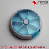 Caixa redonda do comprimido do compartimento do plástico 7 para o uso semanal