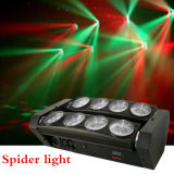 8*10W luz principal móvil de la iluminación LED de la viga de la araña LED