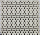 円の銀製のステンレス鋼の金属のDocoreteの台所部屋のモザイク・タイル(FYMLC012)