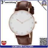 Reloj grande al aire libre del cuarzo de la dial de la manera del reloj del cuero de grano de los cocodrilos de la fábrica del reloj de Yxl-825 China