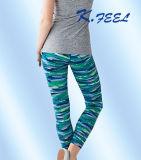Pantalones de encargo de la yoga para funcionar con 88%Nylon 12%Elastic
