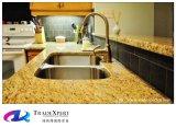 Colore ornamentale del controsoffitto del granito dell'oro di Giallo per i controsoffitti del granito della cucina standard