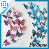 青い3D蝶装飾の芸術の装飾の壁のステッカー
