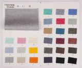 Lino de lino lateral doble del algodón del Spandex de la armadura de tela cruzada