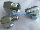 Encaixe hidráulico do conetor da câmara de ar dos 90-Degree de Jic