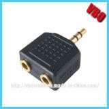 ヘッドホーンの可聴周波アダプター二重Pinのアダプター