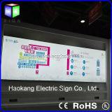 Van LEIDENE van Frameless Vertoning van de Reclame van het Frame van het Aluminium van de Stof de Lichte Advertismenttextile van de Doos
