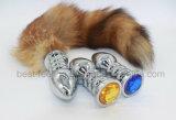 元の工場多彩なハート形の宝石類の金の肛門のプラグ
