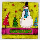 HOME nova da chapa da parede do ferro do Natal do estilo decorativa