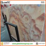 厚遇の中国からの赤いドラゴンのオニックスの壁か床