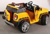 전기 장난감 차가 2명의 아이들을%s RC 전차에 의하여 농담을 한다
