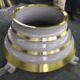 Berufs-Soem-Kegel-Zerkleinerungsmaschine-Abnützung zerteilt konkave Umhang-Filterglocke-Zwischenlage