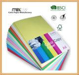 papier d'imprimante de papier-copie de la couleur 80GSM avec la taille de la lettre A4