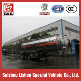 Alloy di alluminio Crude Oil Semi Tariler 40000L Tri Axles Fuel Tanker Trailer