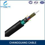 Approvisionnement blindé de constructeur de câble fibre optique de 144 faisceaux GYTA53